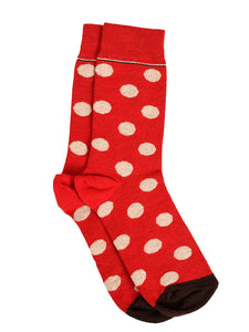 SWHF Organic Cotton Unisex Designer Socks Set (Crew Length, Polka Dot)
