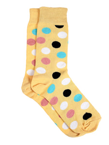 SWHF Organic Cotton Unisex Designer Socks Set (Crew Length, Polka Dot-1)