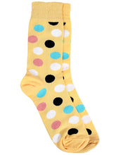 Load image into Gallery viewer, SWHF Organic Cotton Unisex Designer Socks Set (Crew Length, Polka Dot-1)