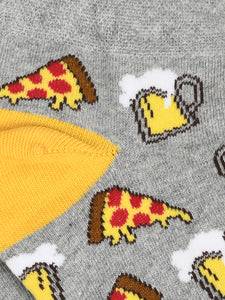 SWHF Organic Cotton Unisex Designer Socks Set (Ankle Length, Pizza)