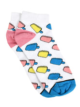 Load image into Gallery viewer, SWHF Organic Cotton Unisex Designer Socks Set (Ankle Length, Ice Cream-1)