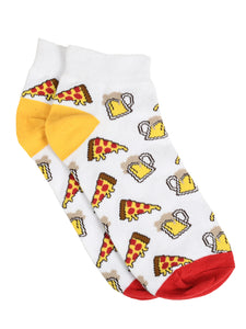 SWHF Organic Cotton Unisex Designer Socks Set (Ankle Length, Pizza-1)
