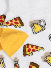 Load image into Gallery viewer, SWHF Organic Cotton Unisex Designer Socks Set (Ankle Length, Pizza-1)
