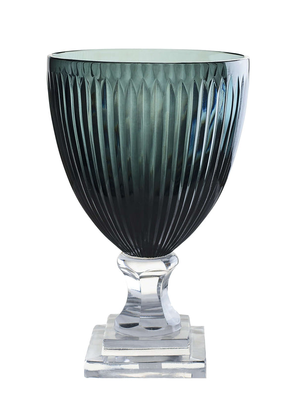 SWHF Crystal Glass V Vase: Nigh Blue - SWHF