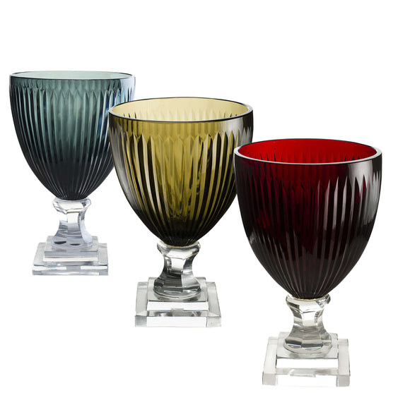 SWHF Crystal Glass V Vase: Set of 3 - SWHF