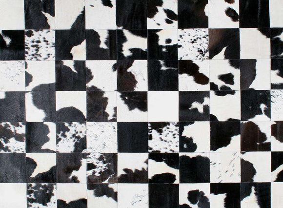 SWHF Large Leather Rug Patch Work: Black and White - SWHF