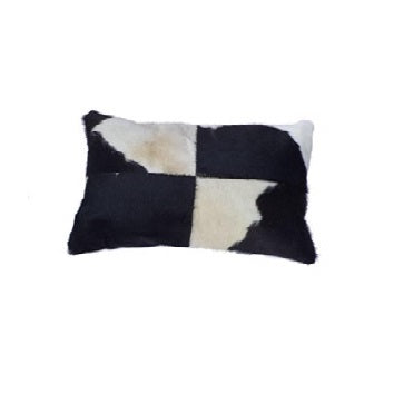 SWHF Leather Cushion Cover: Black and White