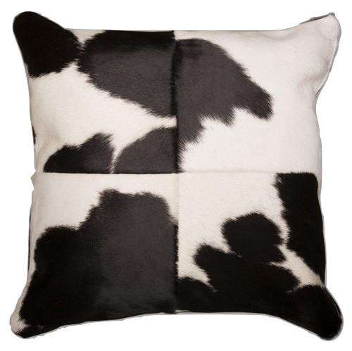 SWHF Leather Cushion Cover: Black and White - SWHF