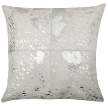 Load image into Gallery viewer, SWHF Leather Cushion Cover: White with Gold Foil