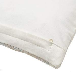 SWHF Leather Cushion Cover: White with Gold Foil