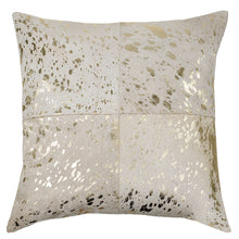 Load image into Gallery viewer, SWHF Leather Cushion Cover: White with Silver Foil