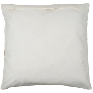 SWHF Leather Cushion Cover: White with Silver Foil