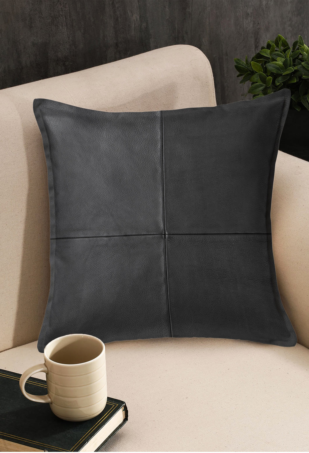 SWHF Solid Leather Cushion Cover 18