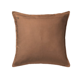 "SWHF Solid Leather Cushion Cover 18"" x 18"" (Brown)"