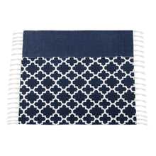 Load image into Gallery viewer, SWHF Double Twisted Cotton Printed & Solid Rug, Set of 2 : 18 X 30 In (Navy Blue) - SWHF