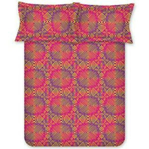 Bombay Dyeing 140 TC PolyCotton Bedsheet With Two Pillow Covers : Red - SWHF