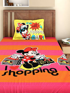 Bombay Dyeing Disney Kids Bedsheet : I Love Shopping(Minni Mouse Collection) - SWHF