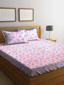 Bombay Dyeing Axia 120 TC Cotton Double Bedsheet with 2 Pillow Covers - SWHF