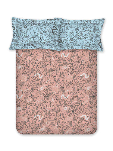 Bombay Dyeing Elixir 180 TC Cotton Double Bedsheet with 2 Pillow Covers - SWHF