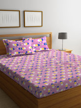 Load image into Gallery viewer, Bombay Dyeing Axia 120 TC Cotton Double Bedsheet with 2 Pillow Covers - SWHF