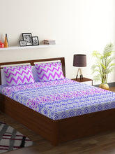 Load image into Gallery viewer, Bombay Dyeing Axia 104 TC Cotton Double Bedsheet with 2 Pillow Covers-Levender - SWHF