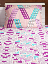 Load image into Gallery viewer, Bombay Dyeing Axia 104 TC Cotton Double Bedsheet with 2 Pillow Covers-Magenta - SWHF