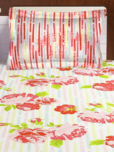 Load image into Gallery viewer, Bombay Dyeing Axia 104 TC Cotton Double Bedsheet with 2 Pillow Covers-Orange - SWHF