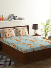Load image into Gallery viewer, Bombay Dyeing Breeze 120 TC Cotton Double Bedsheet with 2 Pillow Covers-Green - SWHF