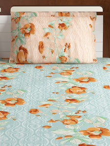 Bombay Dyeing Breeze 120 TC Cotton Double Bedsheet with 2 Pillow Covers-Green - SWHF