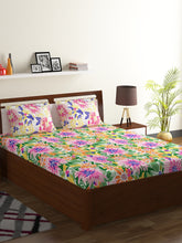 Load image into Gallery viewer, Bombay Dyeing Breeze 120 TC Cotton Double Bedsheet with 2 Pillow Covers-Yellow - SWHF