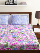 Load image into Gallery viewer, Bombay Dyeing Breeze 120 TC Cotton Double Bedsheet with 2 Pillow Covers-Levender - SWHF