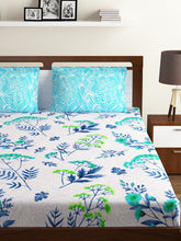 Load image into Gallery viewer, Bombay Dyeing Breeze 120 TC Cotton Double Bedsheet with 2 Pillow Covers-Blue - SWHF
