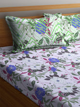 Load image into Gallery viewer, Bombay Dyeing Ivyrose 104 TC Cotton Double Bedsheet with 2 Pillow Covers - Violet - SWHF
