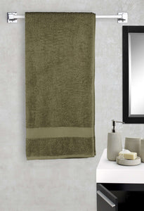 EuroSpa Premium Cotton 450 GSM Super Premium bath towel : Green - SWHF
