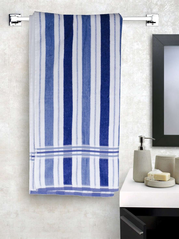 EuroSpa Premium Cotton 360 GSM New Cosmos bath towel : Blue - SWHF
