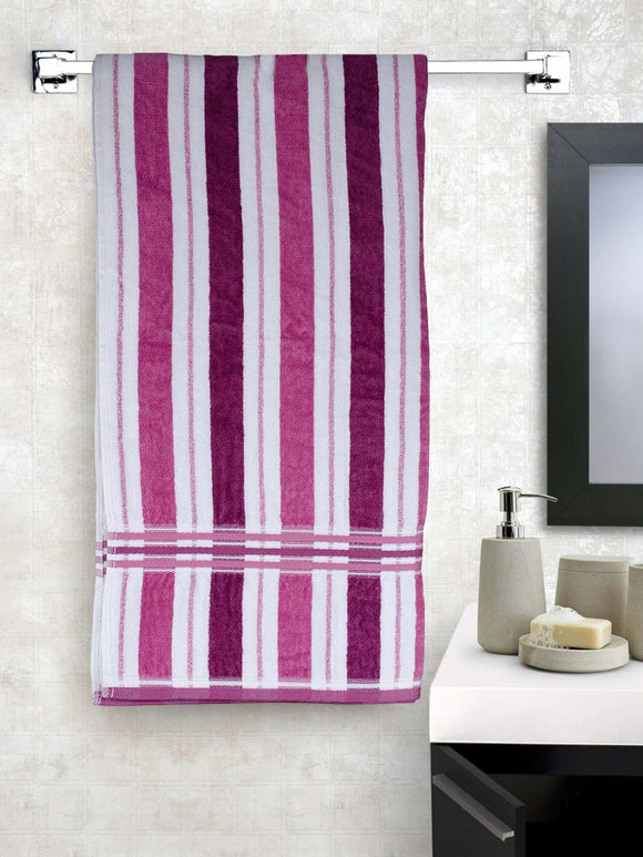 EuroSpa Premium Cotton 360 GSM New Cosmos bath towel : Purple - SWHF