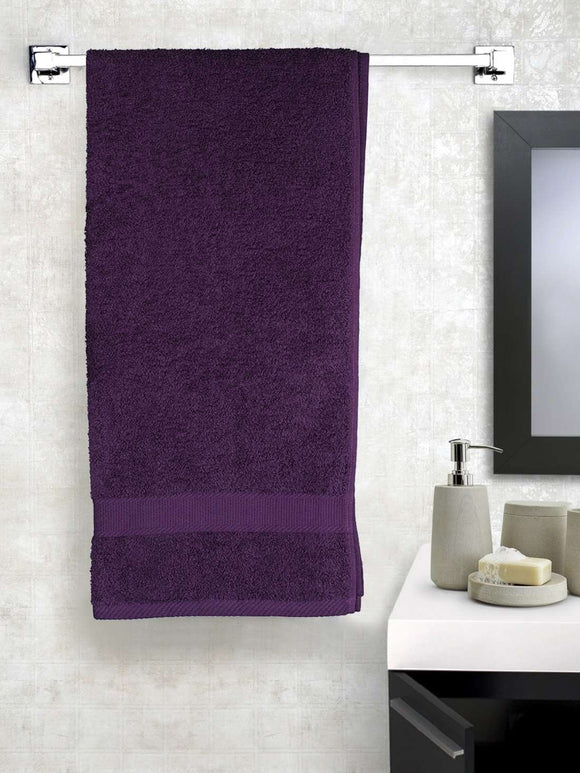 EuroSpa Premium Cotton 450 GSM Supreme bath towel : Purple - SWHF