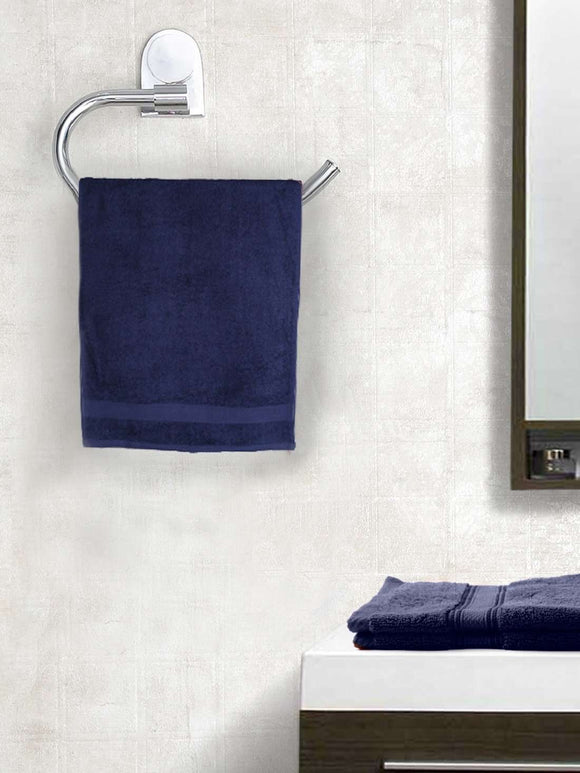 EuroSpa Premium Cotton 360 GSM Supreme baby  Bath towel : Navy Blue - SWHF