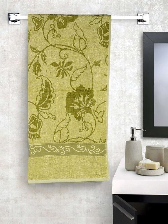 EuroSpa Premium Cotton 350 GSM Marvel bath towel : Green - SWHF