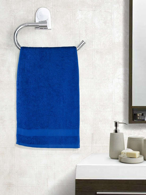 EuroSpa Premium Cotton 450 GSM Supreme Hand towels Set of 2 : Royal Blue - SWHF