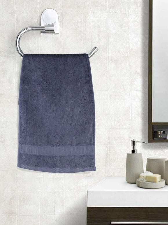 EuroSpa Premium Cotton 450 GSM Supreme Hand towels Set of 2 : Grey - SWHF