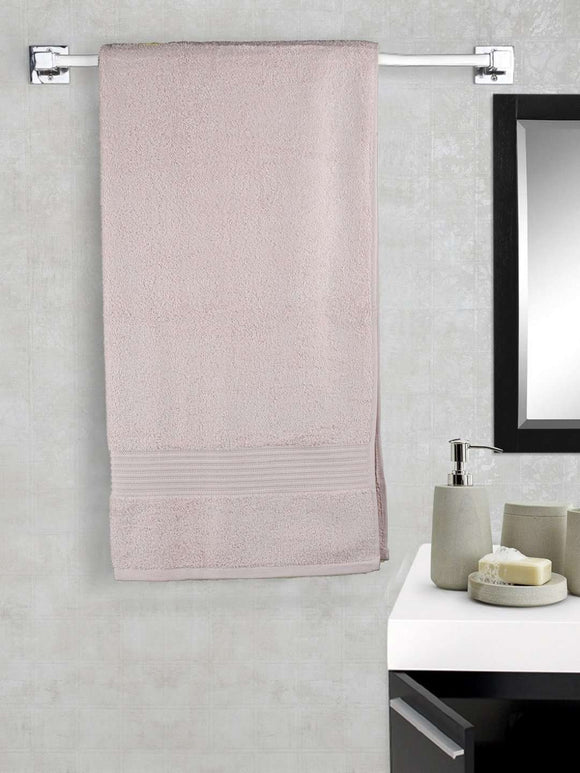 EuroSpa Premium Cotton 650 GSM Art bath towel : Baby Pink - SWHF