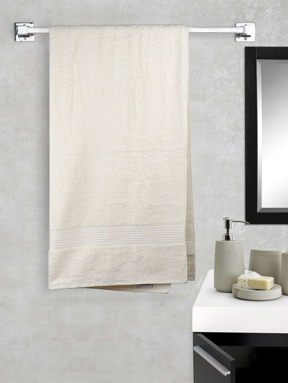 EuroSpa Premium Cotton 650 GSM Art bath towel : Beige - SWHF