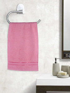 EuroSpa Premium Cotton 370 GSM Elegance Hand towels Set of 2 : Baby Pink - SWHF
