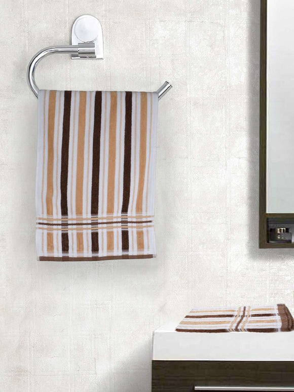 EuroSpa Premium Cotton 410 GSM New Cosmo Hand towels Set of 2 : Brown - SWHF