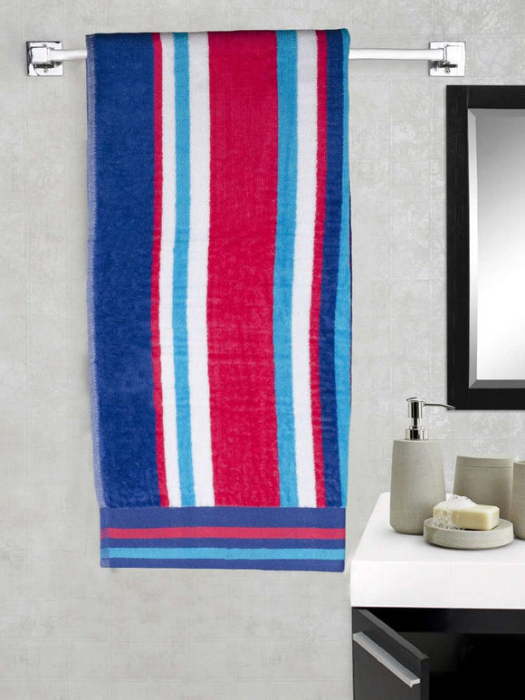 EuroSpa Premium Cotton 360 GSM Matrix  baby bath towel : Blue - SWHF