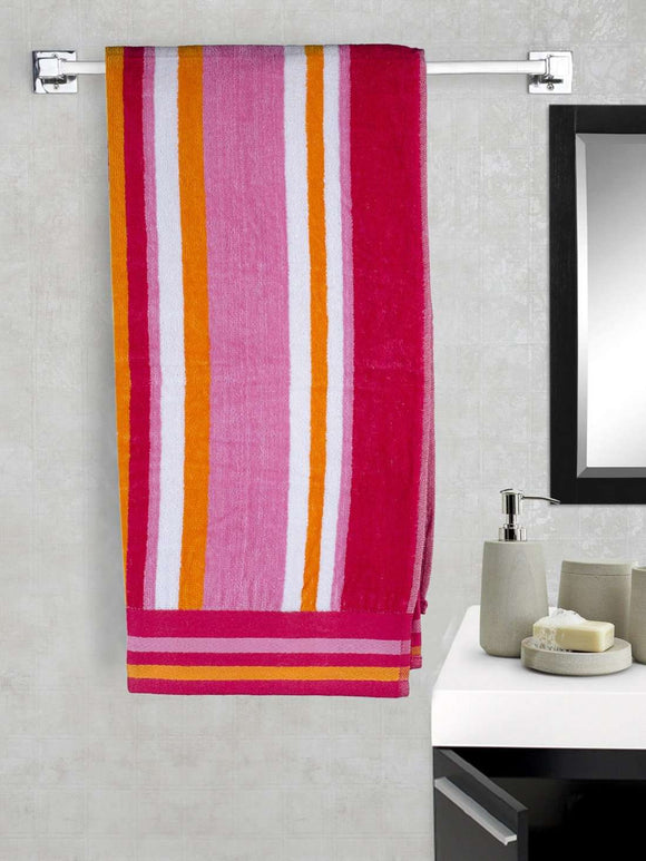 EuroSpa Premium Cotton 360 GSM Matrix  baby bath towel : Red - SWHF
