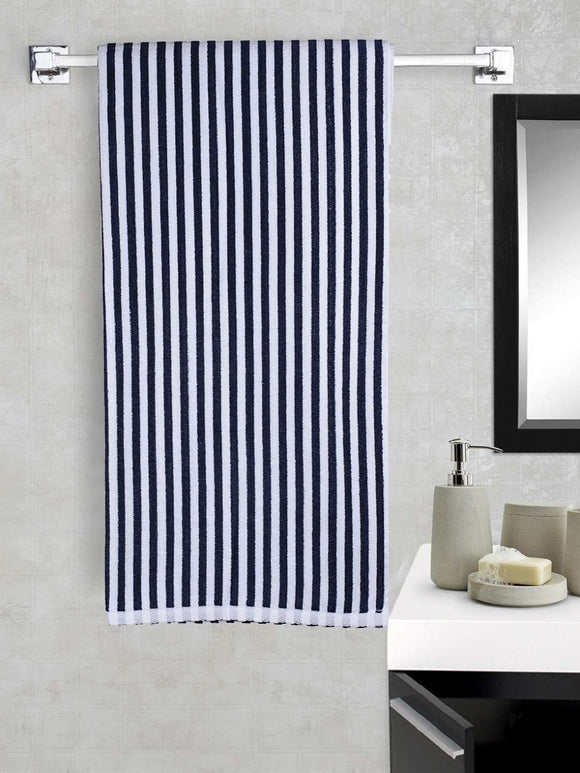 EuroSpa Premium Cotton 360 GSM Rover bath towel : Blue - SWHF