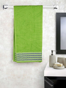EuroSpa Premium Cotton 450 GSM Rafel bath towel : Green - SWHF