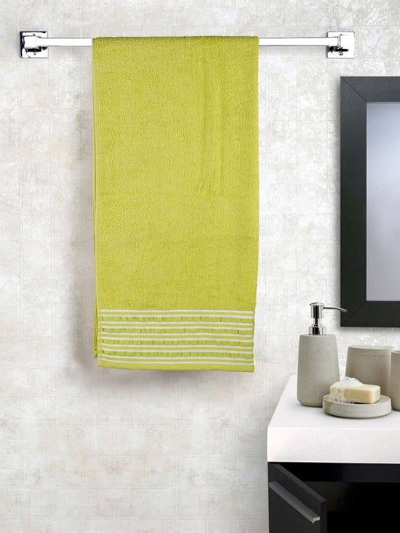 EuroSpa Premium Cotton 450 GSM Rafel bath towel : Lime Green - SWHF